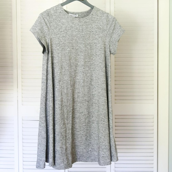 edc83e5381b3 Heather Gray Short Sleeve Swing Dress